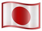 Japan Flag Icon. ( With Clipping Path )