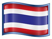 Thailand Flag Icon. ( With Clipping Path )