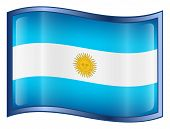 Argentina Flag Button. ( With Clipping Path )