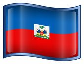 Haiti Flag Icon. ( With Clipping Path )