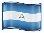 Nicaragua Flag Icon. ( With Clipping Path )