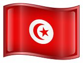 Tunisia Flag Icon. (With Clipping Path)