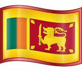 Sri Lanka Flag Icon. (With Clipping Path)