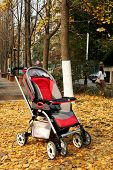 baby carriage with defoliate