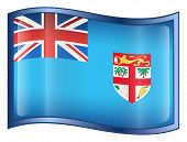 Fiji Flag Icon. ( With Clipping Path )