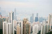 Hong Kong view from Taiping mountain
