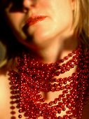 Woman With Red Chaplet poster