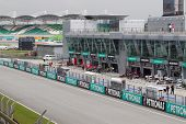 A view of Sepang circuit pitlane