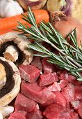 pic of rutabaga  - The ingredients for making a traditional British beef stew a common home - JPG