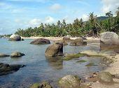 Huge boulders along the coast line of Samui island, Thailand