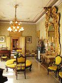 Interior da villa Monastero. Lago de Como, Itália
