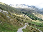 Famous St. Gotthard pass, Switzerland