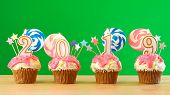 2019 Happy New Years Candy Land Lollipop Drip Cupcake.s poster