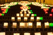 picture of luminaria  - the illuminate stairase of Caltagirone - JPG
