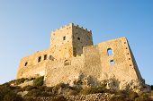 castle of Chiaramonte in Palma di Montechiaro in Sicily