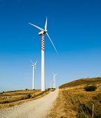 Generators electricity to winddirt road