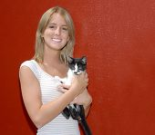 Pretty Young Woman With Kitten