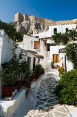 village of Anafiotika it is located directly under the north section of the Acropolis (section of Plaka in town of Athens
