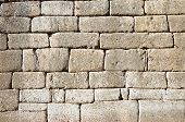 Cyclopean wall of The Treasury of Atreus or Tomb of Agamemnon at ancient Mycenae characterized by th