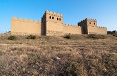 picture of hattuscha  - reconstruction of the walls of the ancient Hittite city of Hattusa - JPG
