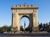 Triumph Arch - landmark in Bucharest, romanian capital