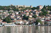 alte Ohrid Dorf unter dem Samoil Schloss, Republik Mazedonien