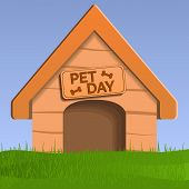Pet Day Dog House Concept Background. Cartoon Illustration Of Pet Day Dog House Vector Concept Backg poster