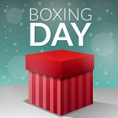 Boxing Day Gift Box Concept Background. Cartoon Illustration Of Boxing Day Gift Box Vector Concept B poster