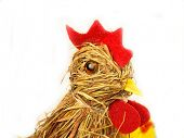Easter hen made of straw stalks