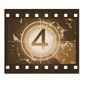 Film countdown in sepia design at No 4