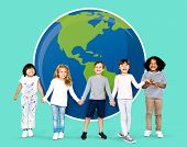 Kids supporting environmental causes poster