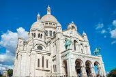 Basilica Coeur Sacre On Montmartre In Paris poster