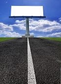 Big blank billboard on the road