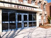 Admissions Building On A College Or University Campus