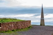 The Monument At Orcombe Point On The South Devon Coast Of England Commemorates The Jurassic Coast Be poster