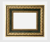 Vintage frame, isolated on white