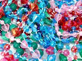 Plastic beads for background