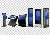 Six Promotional Interactive Information Kiosk, Advertising Display, Terminal Stand, Touch Screen Dis poster