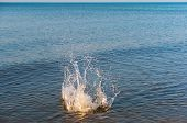 Water Splash, Splashes In Water, Explosion In Water, Sea Splashes poster