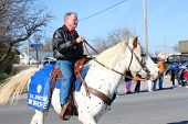BROKEN ARROW, OK-DECEMBER 4: Oklahoma Senator Jim Inhofe (R) rides in Christmas Parade in Broken Arrow, Tulsa's suburb, on December 4, 2010. Inhofe will not ride in Tulsa's Holiday Parade of Lights