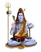 Maha Shivaratri Lord God Festival Hinduism Traditional Spiritual Illustration poster