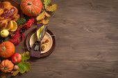 Thanksgiving Turkey Dinner Background poster