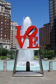PHILADELPHIA - MAY 30: The popular Love Park aptly named after the Love statue May 30, 2010 in Phila
