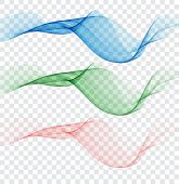 Abstract Colourful Wave Element For Design. Gentle Colors. Digital Frequency Track Equalizer. poster