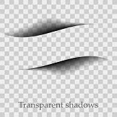 Vector Shadows Isolated. Page Divider With Transparent Shadows Isolated. Set Of Shadow Effects. poster