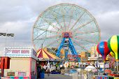 BROOKLYN - OCTOBER 24: Built in 1920, the existence of the Wonder Wheel in Coney Island is being thr