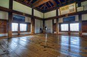MATSUMOTO, JAPAN - JULY 7: Matsumoto Castle retains its original wooden interior from the 16th centu