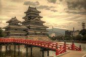 Diele zum historischen Matsumoto Schloss aus dem 15. Jahrhundert in Matsumoto, Japan.