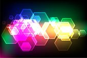 bokeh lights backgrounds with pentagon shapes