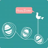 Easter greeting cartoon